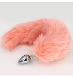 Plug cola anal rosa grande de 35cm